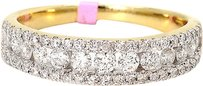 Jewelry Unlimited Ladies,Channel,Set,Round,Diamond,5,Mm,Wedding,Band,Ring,In,14k,Yellow,Gold,.75