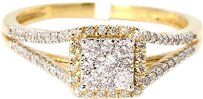 Jewelry Unlimited Ladies,Pave,Set,Round,Diamond,Engagement,Split,Shank,Ring,In,14k,Yellow,Gold