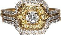 Jewelry Unlimited Ladies,Yellow,Canary,Diamond,Engagement,Band,Ring,In,14k,Yellow,Gold,With,.73,Ct