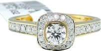 Jewelry Unlimited 14k,Yellow,Gold,Round,Cut,Engagement,Bridal,Solitaire,Band,Diamond,Ring,Set,0.51