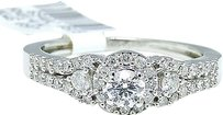 Jewelry Unlimited 14k,White,Gold,Round,Cut,Engagement,Bridal,Solitaire,Band,Diamond,Ring,Set,0.55