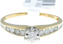 Jewelry Unlimited 14k,Yellow,Gold,Round,Cut,Engagement,Bridal,Solitaire,Band,Diamond,Ring,0.25,Ct