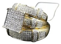 Jewelry Unlimited 10k,Yellow,Gold,Round,Cut,Diamond,Engagement,Bridal,Wedding,Ring,Trio,Set,1.5,Ct