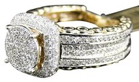 Jewelry Unlimited 10k,Yellow,Gold,Eternity,Style,Pave,Diamond,Engagement,Bridal,Wedding,Ring,1.7ct