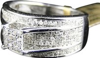 Jewelry Unlimited Ladies,10k,White,Gold,Round,Cut,Pave,Diamond,Engagement,Bridal,Band,Ring,.65,Ct