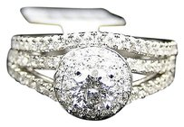 Jewelry Unlimited 14k,White,Gold,Round,Cut,Engagement,Bridal,Solitaire,Diamond,Ring,Set,1.0,Ct