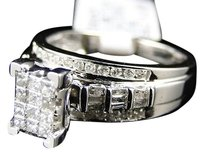 Jewelry Unlimited 10k,Ladies,White,Gold,Princess,Cut,Diamond,Engagement,Wedding,Ring,.80,Ct