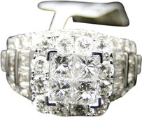 Jewelry Unlimited 14k,Ladies,White,Gold,Princess,Cut,Diamond,Bridal,Engagement,Wedding,Ring,2.78ct