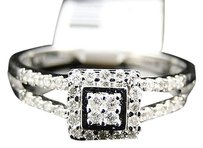 Jewelry Unlimited 10k,Ladies,White,Gold,Round,Cut,Diamond,Wedding,Engagement,Ring,.25,Ct