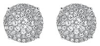 Jewelry Unlimited 10k,White,Gold,Unisex,Round,Diamond,8.5mm,Solitaire,Look,Stud,Earrings,34,C,T
