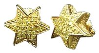 Jewelry Unlimited 10mm,Star,Shaped,Canary,Diamond,Stud,Earrings,In,Yellow,Gold,Finish,0.25,Ct