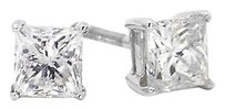 Jewelry Unlimited 14k,White,Gold,Princess,Cut,Diamond,Solitaire,4.5,Mm,Prong,Studs,Earrings,1,Ct