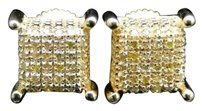 Jewelry Unlimited Yellow,Gold,Finish,Round,Cut,Ice,Cube,Yellow,Diamond,Stud,Earrings,8,Mm,14,Ct