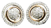 Jewelry Unlimited Mens,Ladies,10k,Rose,Gold,Round,Cut,Diamond,Cricle,Studs,Earrings,13,Ct,10,Mm