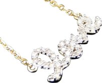 Jewelry Unlimited Womens,Ladies,10k,Yellow,Gold,Love,Heart,Diamond,Pendant,Charm,With,Chain,14,Ct