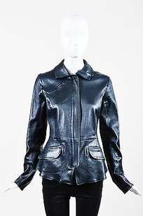 Jil Sander Leather Black Jacket