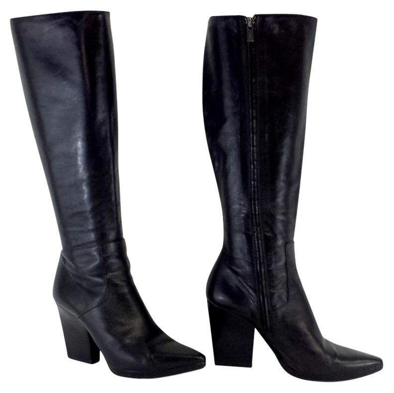 Jil Sander Leather Knee-High Boots cheap extremely Sd2hqtM1Y