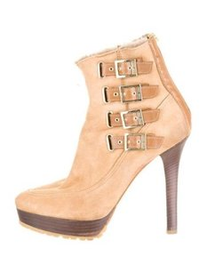 Jimmy Choo Womens Beige Boots
