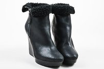 Jimmy Choo Coated Suede Black Boots