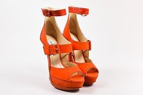 Jimmy Choo Red Mixed Coral Sandals