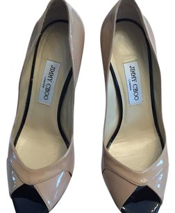 Jimmy Choo Beige glossy Pumps