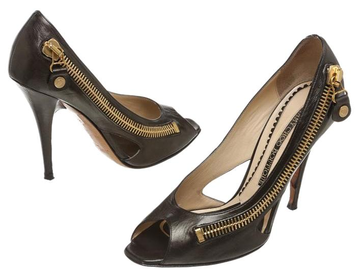 outlet from china Jimmy Choo Leather Zipper Pumps clearance how much buy cheap footaction oVahZ