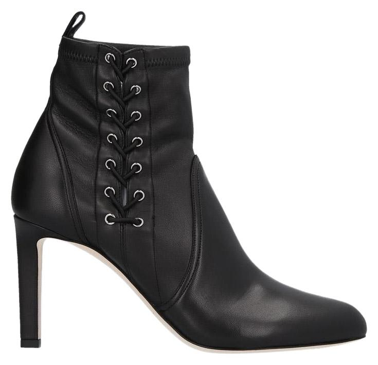 Jimmy Choo Black Mallory Leather Boots/Booties Size EU 37.5 (Approx. US 7.5) Regular (M, B)