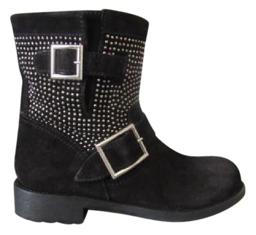 Jimmy Choo Youth Suede Mid-Calf Boots
