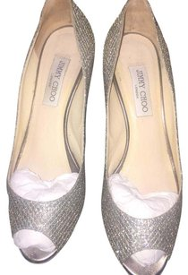 Jimmy Choo Chamagne glitter Pumps