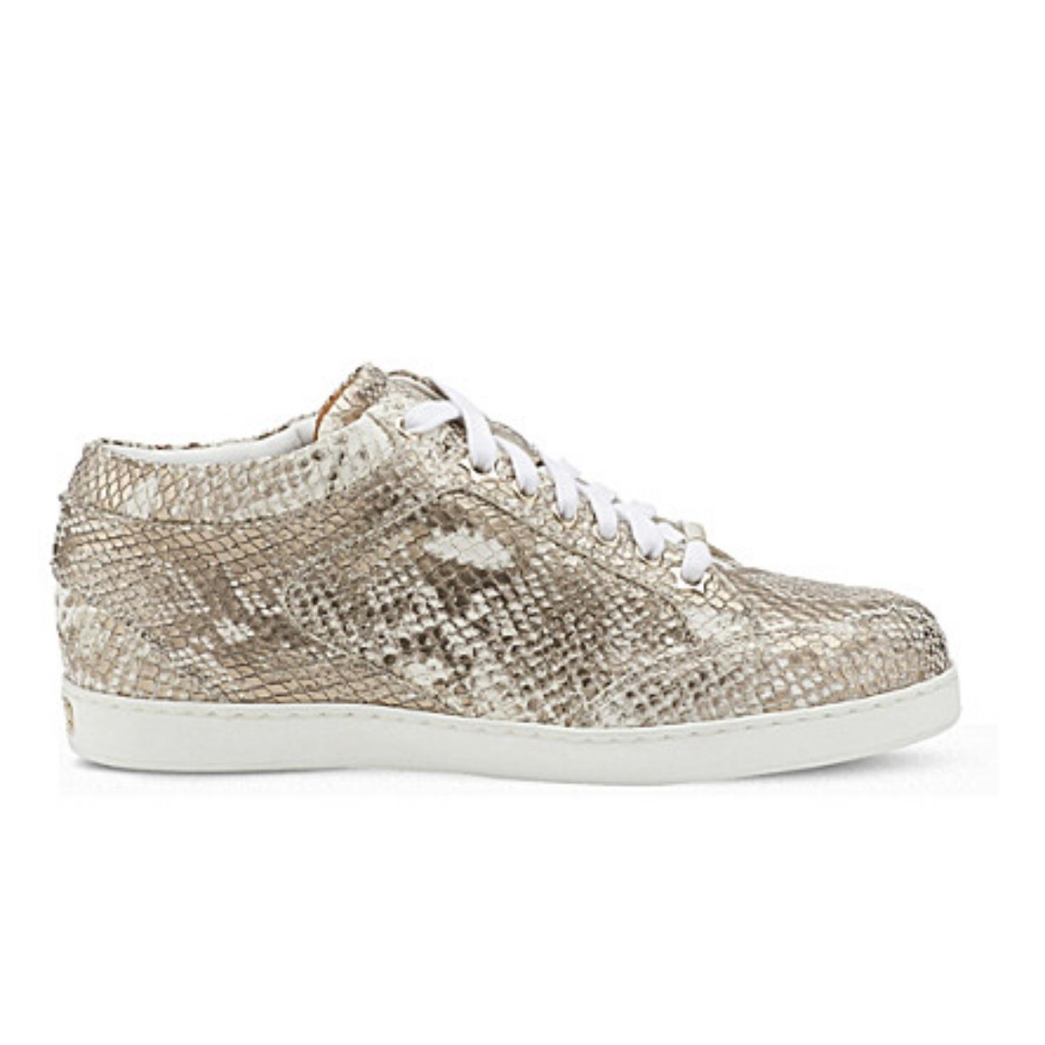 Jimmy Choo Champaign Miami Snakeprint Sneakers Sneakers Size EU 39.5 (Approx. US 9.5) Regular (M, B)