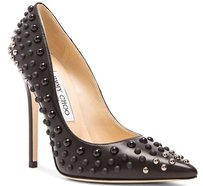 Jimmy Choo Anouk Studded Black Pumps