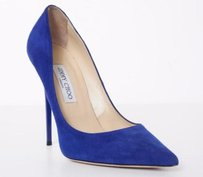 Jimmy Choo Womens Classic Suede Blue Pumps