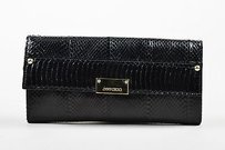 Jimmy Choo Snakeskin Black Clutch
