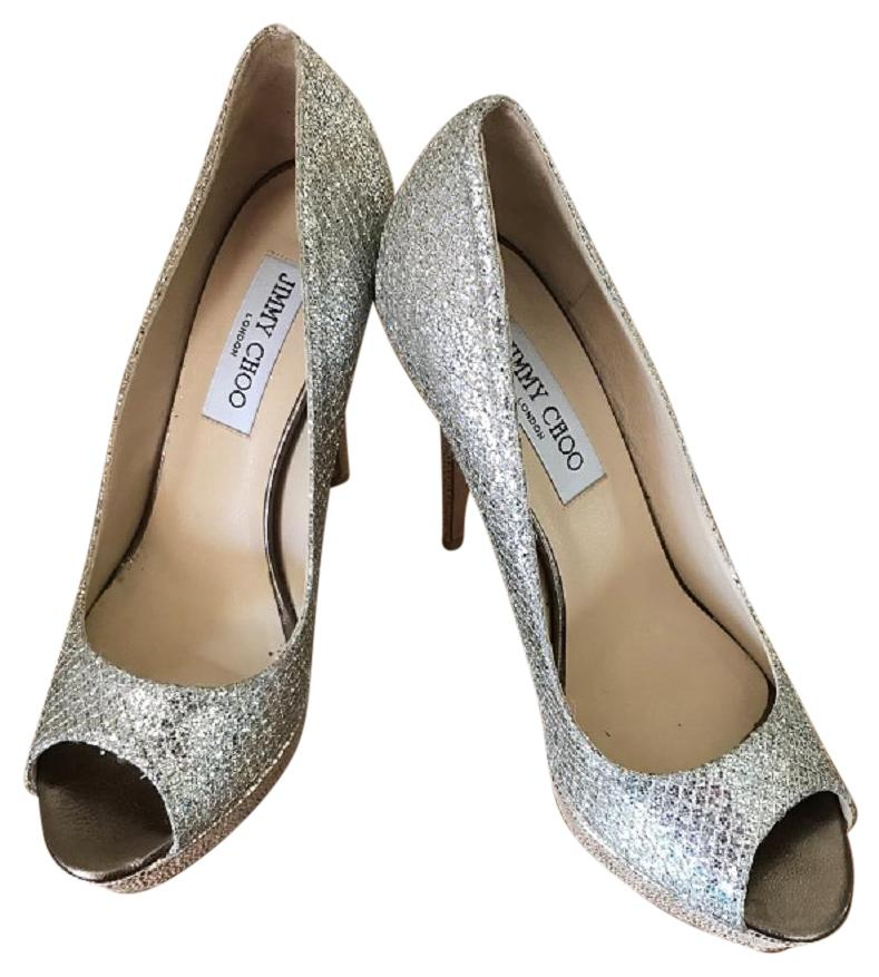 4967c40d7eb8 purchase jimmy choo gold glitter pumps af973 4a1be