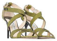 Jimmy Choo Heels Black and Yellow Sandals