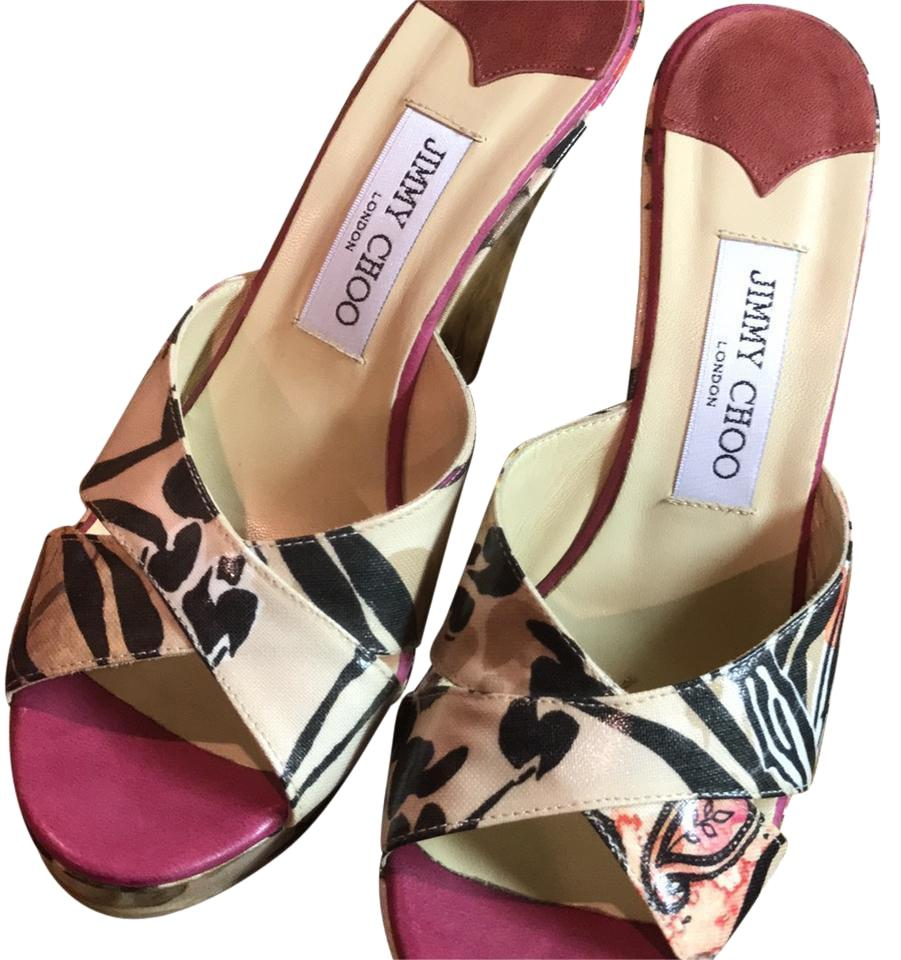 Jimmy Choo Multi Color Mules/Slides Size EU 39 (Approx. US 9) Regular (M, B)