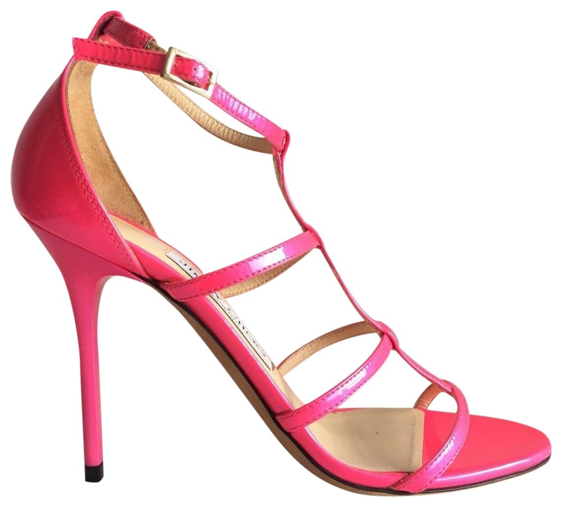 ca5c909b873f Jimmy Choo Neon Pink Pink Pink Dory Patent Leather Cage Sandals Size EU 36  (Approx. US 6) Regular (M