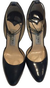 Jimmy Choo Patent Patent Navy Pumps