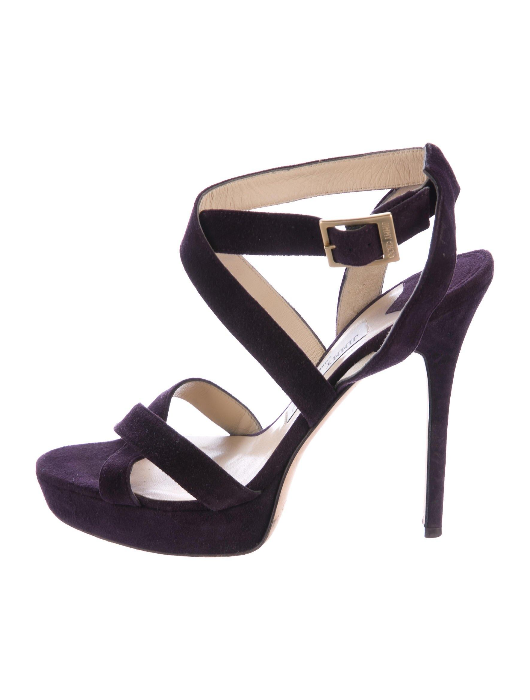 Jimmy Choo Suede Multistrap Sandals buy cheap browse cheap sale 100% guaranteed ioGoC