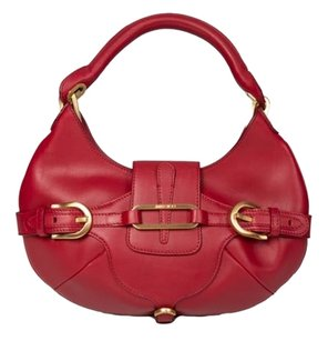 Jimmy Choo Small Leather Red Clutch