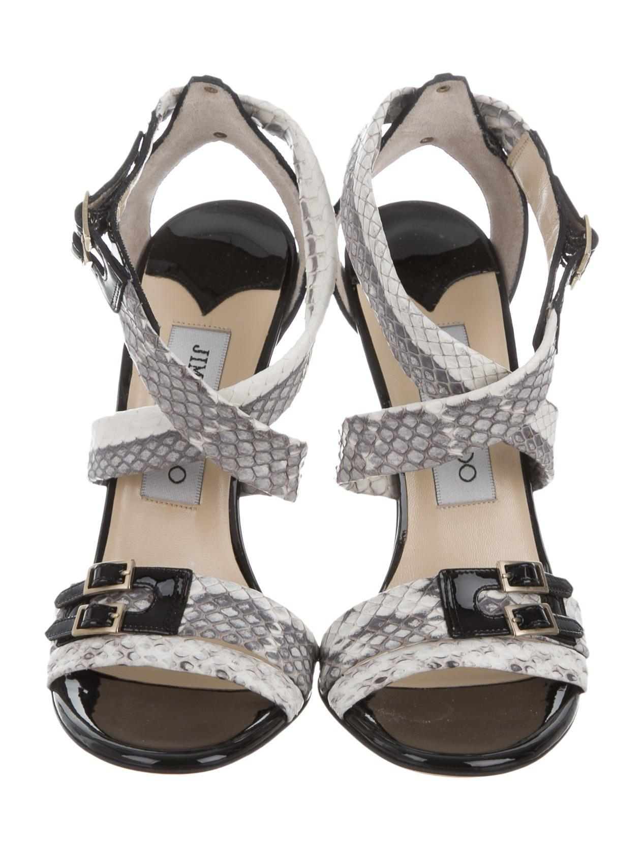 Jimmy Choo Snakeskin Elaphie Sandals w/ Tags 2014 new buy cheap new styles buy cheap factory outlet Fjrt2ezFSs