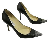 Jimmy Choo Leather Black with silver Pumps