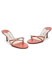 Jimmy Choo Leather Strappy Size 10us Coral Sandals