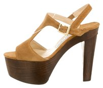 Jimmy Choo Tan Suade Trendy Timeless Camel Sandals