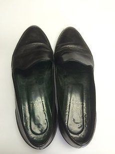 Joan & David Leather Slip On Loafer 12 Classic Career Casual B1789 Black Flats