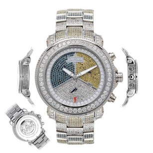 Joe Rodeo Mens Diamond Watch Joe Rodeo Junior Jju40 17.25 Ct Colored Illusion Dial