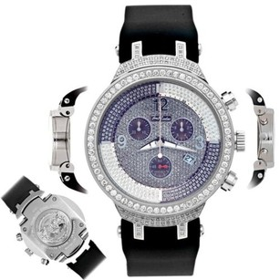 Joe Rodeo Mens Diamond Watch Joe Rodeo Master Jjm24 2.65 Ct Illusion Chronograph Dial