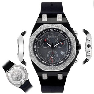 Joe Rodeo Mens Diamond Watch Joe Rodeo Panama Jpam5 2.15 Ct Octagon Black Dial