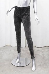 JOE'S Jeans Mineral Legging Gray Acid Wash Zip Cuff Denim Pants