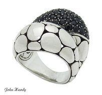 John Hardy John Hardy Kali Arus Sterling Silver Bold Ring With Black Sapphires R719